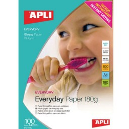 Papel Everyday 180 g/m² 100HJ Din A-4 Apli 11475