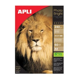 Papel PHOTO BRIGHT 240 g/m² 150HJ 10x15 cm. Apli 11504