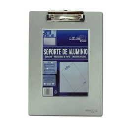 Soporte pinza aluminio Din A-4 Office Box 9666