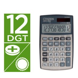 Calculadora CPC-112 plata Citizen 33082